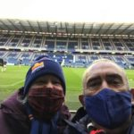 Couple at Murrayfield wearing masks