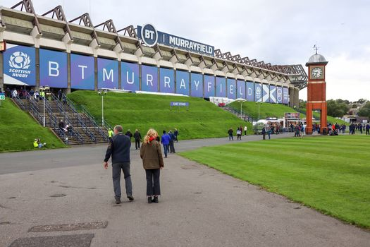 BT Murrayfield East Stand before COVID test event