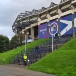 Outside View of Murrayfield East Stand
