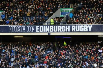 Packed Edinburgh Rugby Stand for Derby
