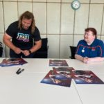Pierre Schoeman Signing Posters - It's poster signing time with Nicola Garforth