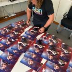 Pierre Schoeman signing posters for local rugby clubs