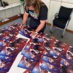 Pierre Schoeman Signing Posters from above